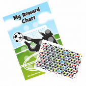 A4 Football 'Goal' Reward Chart and 70 Matching Stickers