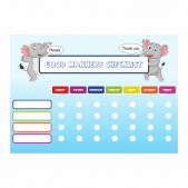 Good Manners Checklist Reward Charts and Stickers