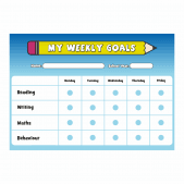 Weekly Goals A4 Reward Chart with Stickers