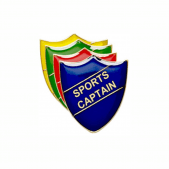 Sports Captain Pin Badge - Shield