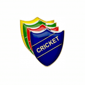 Cricket Pin Badge - Shield