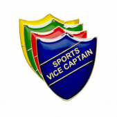 Sports Vice Captain Pin Badge - Shield