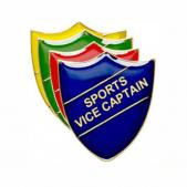 Sports Vice Captain Pin Badge - Shield