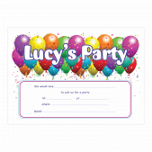 Personalized Balloon Party Invitations