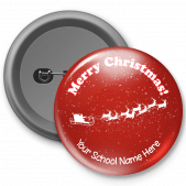 Merry Christmas Customized Button Badge