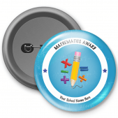 Mathematics Award Customized Button Badge