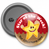 Star of the Week Customized Button Badge