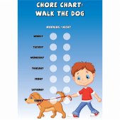 Boys Chore Chart 'Walk the Dog'