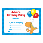 Personalized Dinosaur Party Invitations