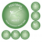 Football Merit Stickers
