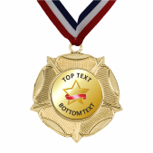 Gold Medal & Ribbon - Gold Star Design