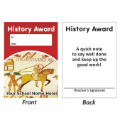 History Mini Award Slip Design 1