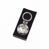 Personalised Silver Keyring - Silver Cup Design