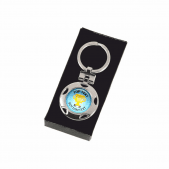 Personalised Keyring - Blue Cup Design