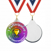 I Participated Custom Sports Day Medals and Ribbons