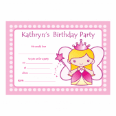 Personalized Princess Party Invitations