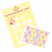 A3 Princess Reward Charts and Stickers