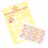 A4 Princess Reward Charts and Stickers