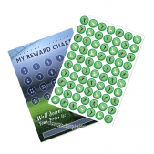 A4 Football Reward Chart and 70 Matching Stickers