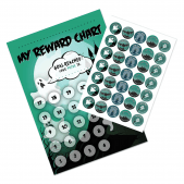 Haunted House Reward Chart and 35 Matching Stickers