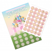 Princess Castle Reward Chart and 35 Matching Stickers