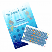 A4 Underwater Reward Chart and Matching 70 Stickers
