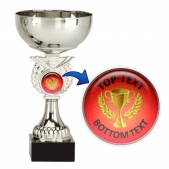 Silver Cup Trophy - Red/Gold Cup Design