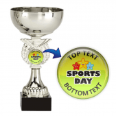 Silver Cup Trophy - Sports Day Design