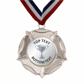 Silver Medal & Ribbon - Silver Cup Design