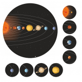 Mini Solar System Stickers