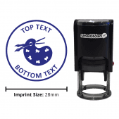 Art Palette Stamp - Blue