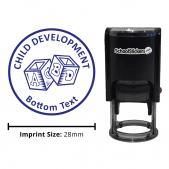 Child Development Stamp - Blue