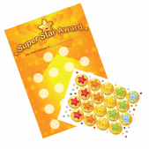 A3 Super Star Award Reward Chart and 18 Stickers