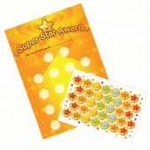 A4 Super Star Award Reward Chart and Stickers