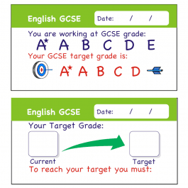 English GCSE Assessment Stickers