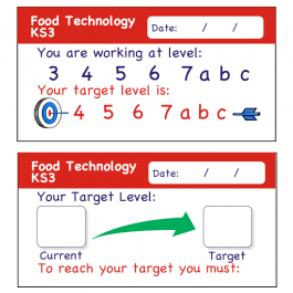 Food Technology KS3 Teacher Assessment Stickers