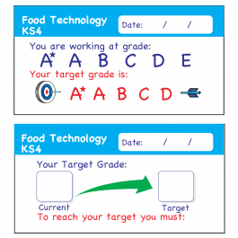 Food Technology KS4 Teacher Assessment Stickers