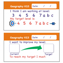 Geography KS3 Pupil Assessment Stickers