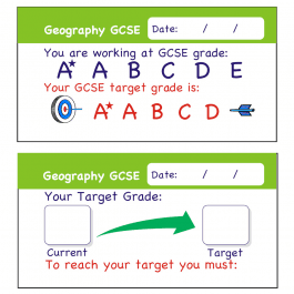 Geography GCSE Assessment Stickers