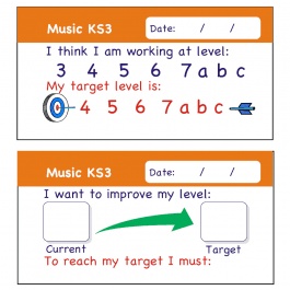 Music KS3 Pupil Assessment Stickers