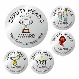 An image of Deputy Head Teacher Silver Award Stickers