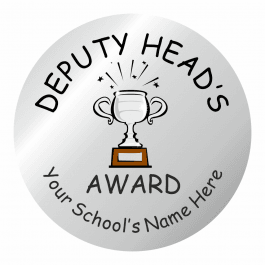 Deputy Head Teacher Silver Award Stickers