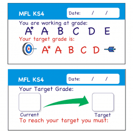 MFL KS4 Teacher Assessment Stickers