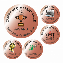 Bronze Improved Attendance Stickers