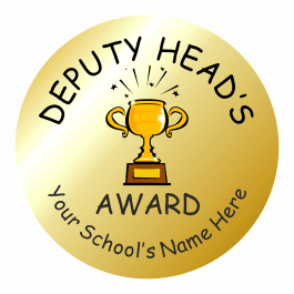 Deputy Head Teacher Gold Award Stickers