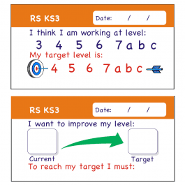RS KS3 Pupil Assessment Stickers