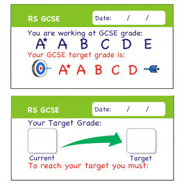 RS GCSE Assessment Stickers