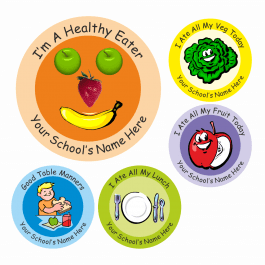 An image of Encourage Healthy Eating Stickers Medium Pack
