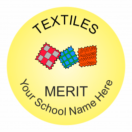Textiles Reward Stickers - Classic
