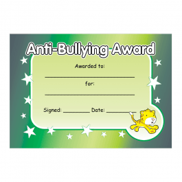 Anti-Bullying Certificate 1